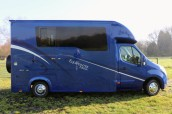 Equihunter Arena 3.5 tonne horsebox for sale on a Vauxhall Movano chassis